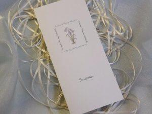 scottish scots language wedding invitations stationery bluebells