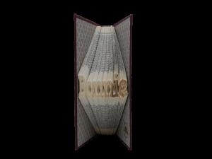 book art sculpture book folding bonnie scots language