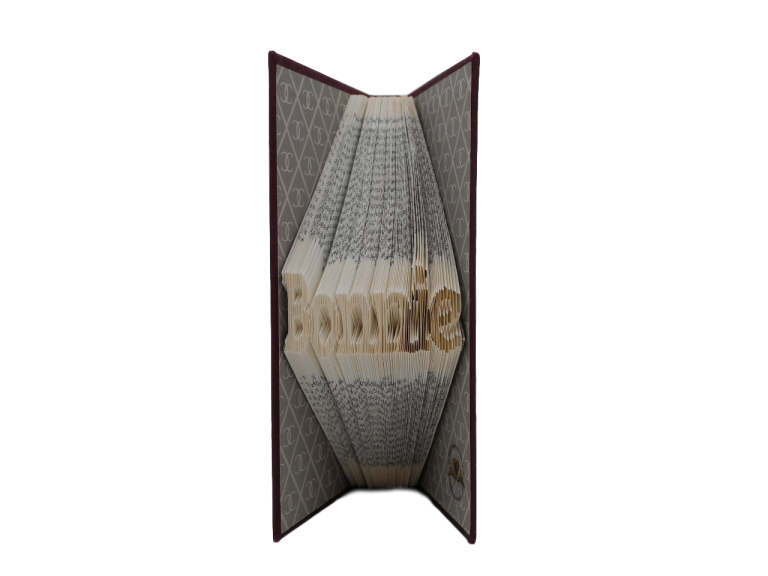 book art sculpture book folding bonnie scots language