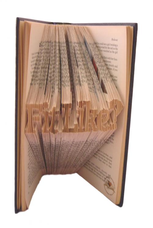 book art sculpture book folding fit like doric scots language