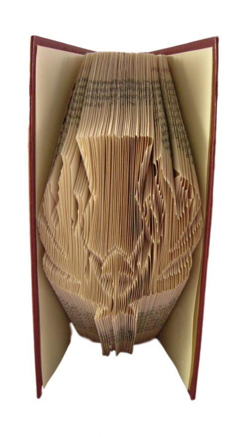 book art sculpture book folding Scottish thistle