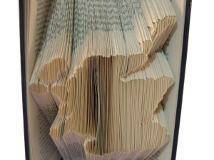 book art sculpture book folding map of Scotland