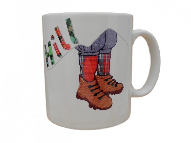scottish tartan mug over the hill verse scots language