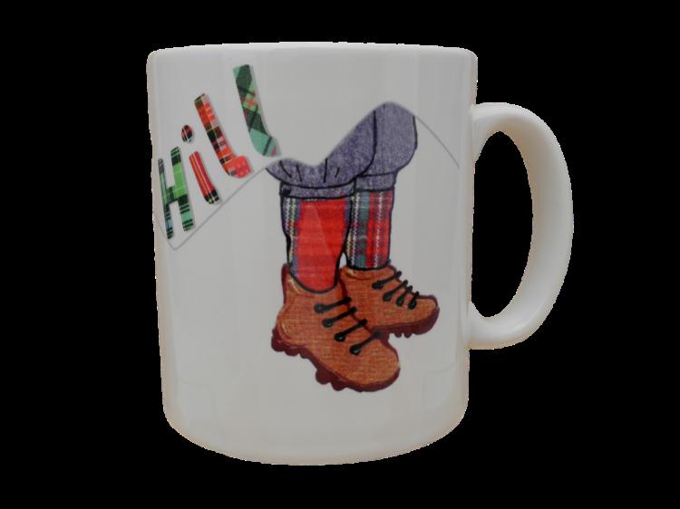 scottish tartan mug over the hill verse scots language