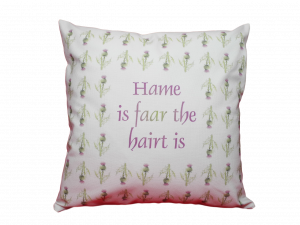 scottish sayings cushion cover thistles