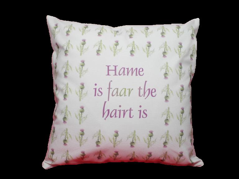 scottish sayings cushion cover thistles