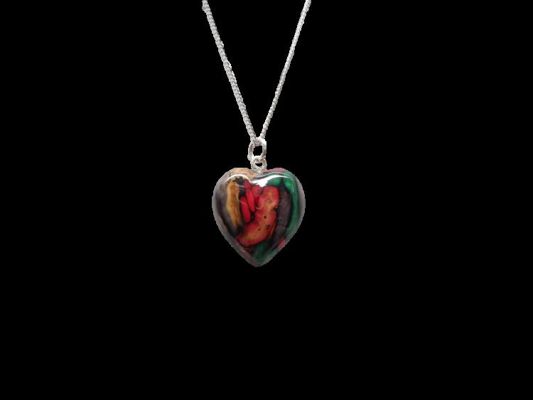 scottish pendant necklace heathergem heart