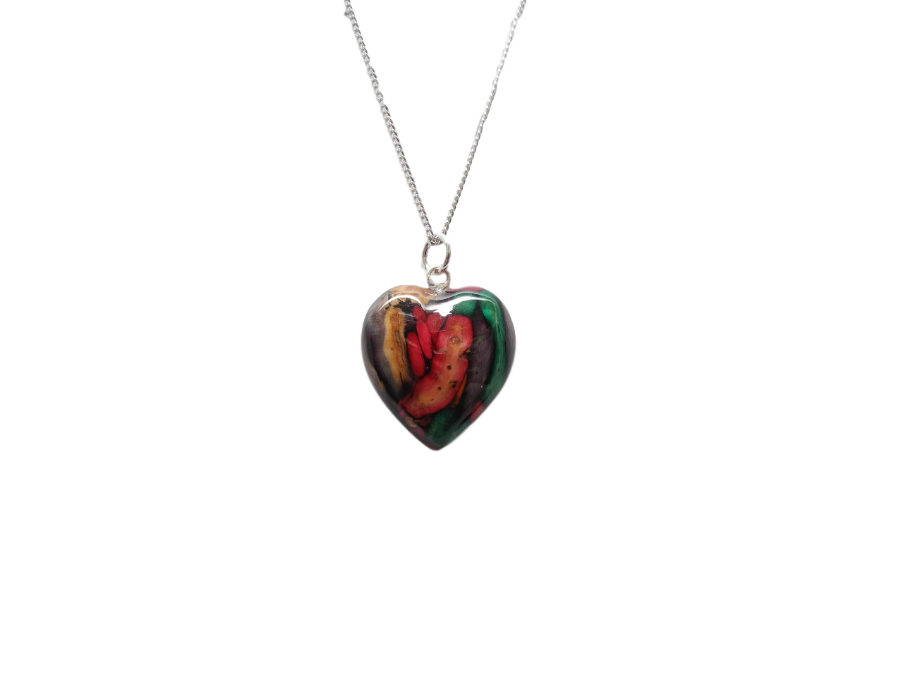scottish pendant necklace heathergem heart