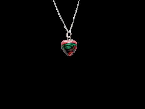 scottish pendant necklace heathergem heart tiny