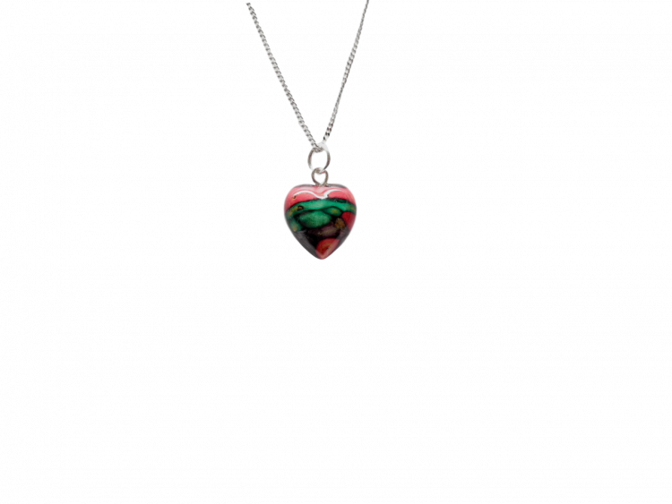 scottish pendant necklace heathergem heart tiny
