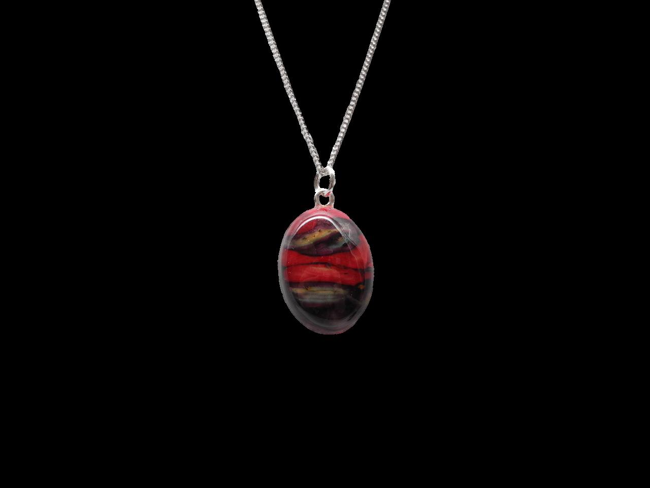 scottish pendant necklace heathergem oval