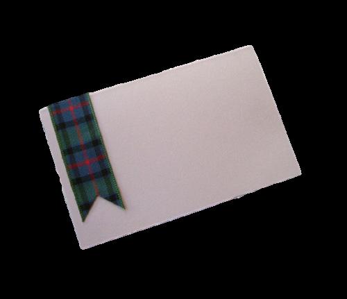 scottish hand made tartan ribbon place card