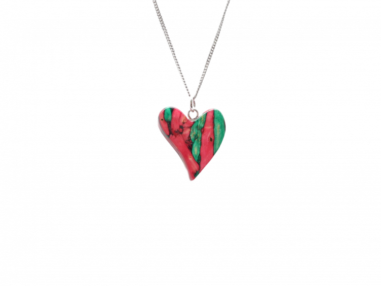 scottish pendant necklace heathergem heart quirky