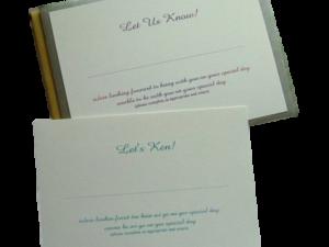 response slip wedding stationery