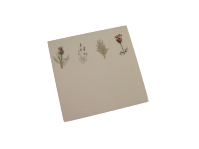 scottish place card thistle rose lavender heather