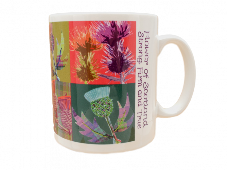 scottish mug thistles flower of scotland