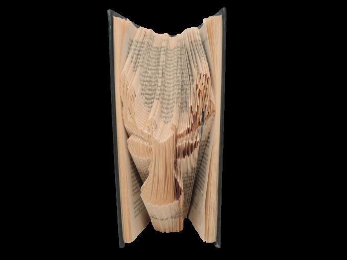 book art sculpture book folding stag