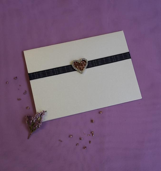 scottish hand made wedding invitations stationery tartan heather swarovski heart