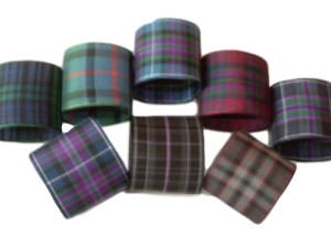 scottish tartan napkin rings