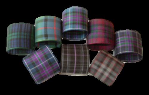 scottish tartan napkin rings