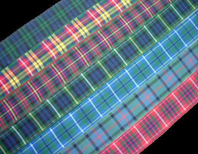 """scottish tartan ribbon 25mm 1"""" wide"""