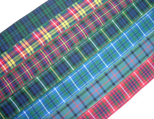 "scottish tartan ribbon 25mm 1"" wide"
