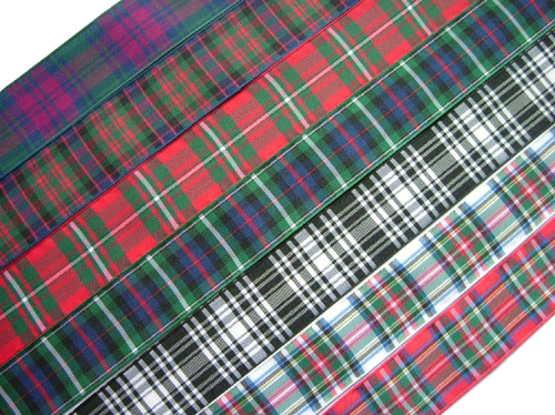 "scottish tartan ribbon 38mm 1 1/2""wide"