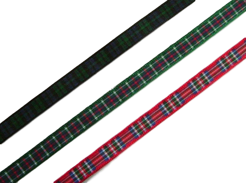 "scottish tartan ribbon 7mm 1/4"" wide"