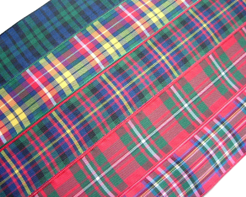 "scottish tartan ribbon 75mm 3"" wide"