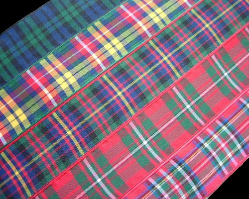 """scottish tartan ribbon 75mm 3"""" wide"""