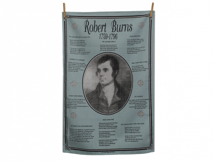 scottish scots language robert burns poetry tea towel