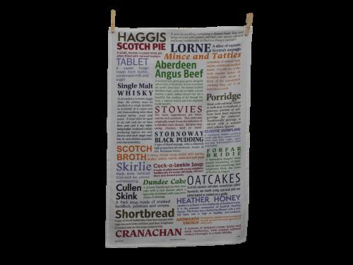 scottish tea towel scottish foods with descriptions