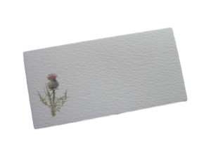 scottish place card thistle