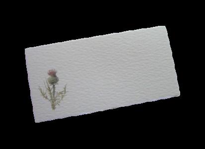 scottish place card thistle