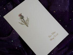 scottish scots language wedding invitations stationery thistle