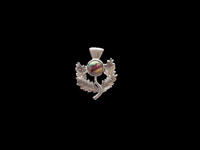 thistle brooch scottish heathergem