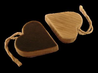 scottish oak hanging heart