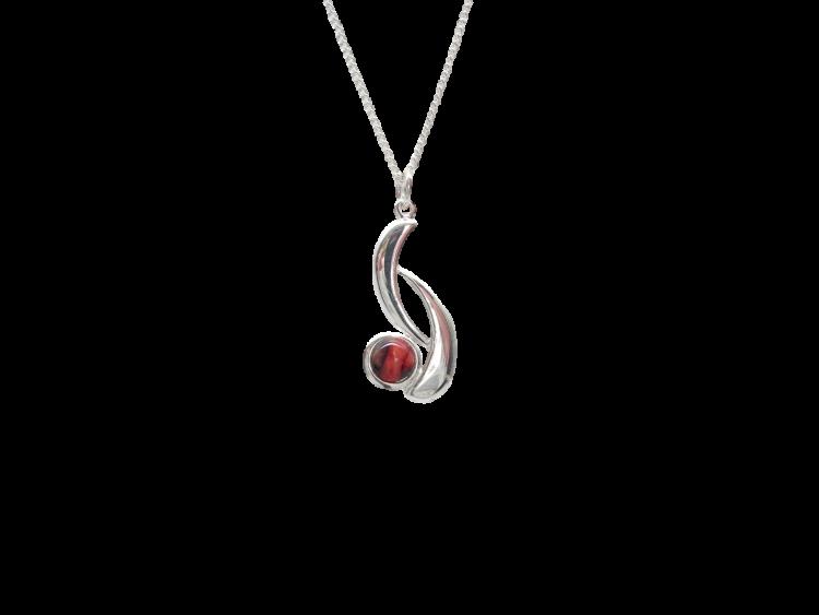 scottish pendant necklace heathergem wishbone