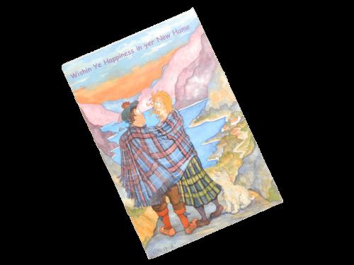 scottish new home card couple tartan doric scots language