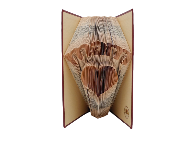 book art sculpture book folding mam mum scots language