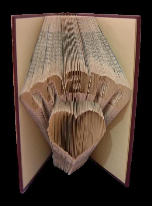 book art sculpture book folding mam mum scots language