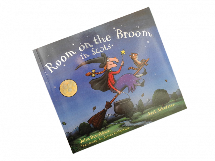 scottish scots language book for children room on the broom in scots