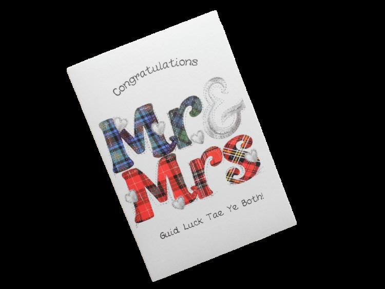 scottish same sex wedding card tartan scots language