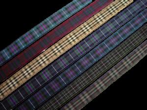 pride of scotland tartan ribbon ancient autumn gold highland modern platinum silver 16 mm
