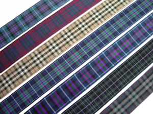 "scottish pride of scotland tartan ribbon 25 mm 1"" wide"