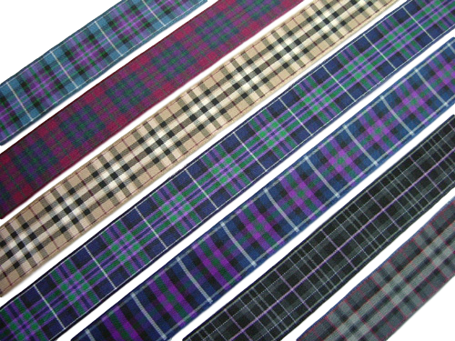 "scottish pride of scotland tartan ribbon 25 mm 1"" wide"
