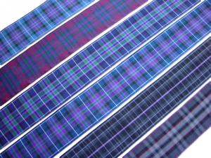 pride of scotland tartan ribbon ancient autumn gold highland modern platinum silver 38 mm