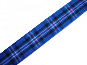 "scottish rangers fc tartan ribbon 25 mm ½"" wide"