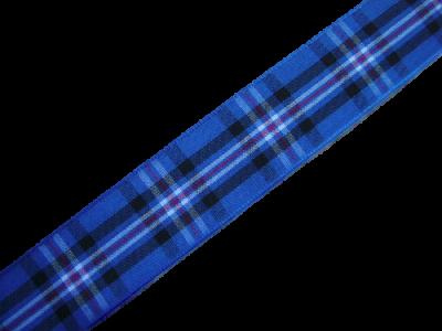 """scottish rangers fc tartan ribbon 25 mm ½"""" wide"""