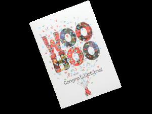 scottish congratulations card tartan woo hoo